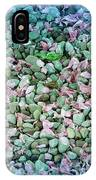 Cool Blue Pink Petals On Stones IPhone Case