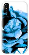Cool Blue Rose IPhone Case