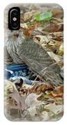 Cooper's Hawk - Accipiter Cooperii - With Blue Jay IPhone Case