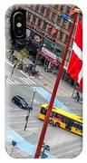 Copenhagen Downtown Traffic IPhone Case