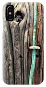 Copper Ground Wire And Knothole On Utility Pole IPhone Case