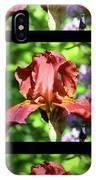 Copper Iris Triptych Squared IPhone Case