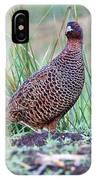 Copper Pheasant IPhone Case