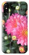 Coral Mums 2 IPhone Case