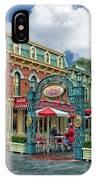 Corner Cafe Main Street Disneyland 01 IPhone Case