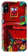 Corner Flowershop IPhone Case