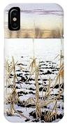 Cornfield In Winter IPhone Case