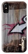 corrugated metal and stump II IPhone Case
