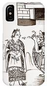 Cortes & Montezuma, 1519 IPhone Case