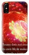 Cosmic Inspiration God Source 2 IPhone Case