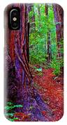 Cosmic Redwood Trail On Mt Tamalpais IPhone Case