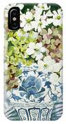 Cosmos And Hydrangeas In A Chinese Vase IPhone Case