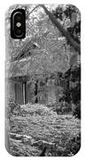Cottage Black White Gardens Louisiana  IPhone Case