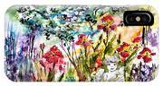 Cottage Garden Angel And Irises IPhone Case