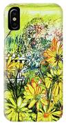 Cottage Gate Seen Through Sun Daisies IPhone Case