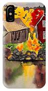 Cottages By A Lake In Autumn  IPhone Case