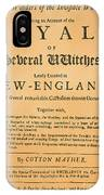 Cotton Mather, 1693 IPhone Case