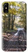 Country Lane In Autumn 2 IPhone Case