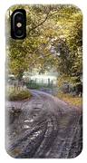 Country Lane In Autumn 4 IPhone Case