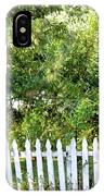 Country Picket Fence IPhone Case