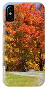 Country Road Autumn IPhone Case