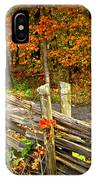 Country Road In Autumn Forest IPhone Case