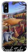 Country Roads Take Me Home T Shirt - Coon Gap Holler - Appalachian Country Landscape 2 IPhone Case