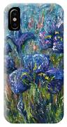 Countryside Irises Oil Painting With Palette Knife IPhone Case