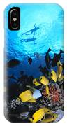 Couple Snorkels At Surfac IPhone Case
