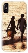 Couple Wading In Ocean IPhone Case