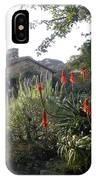 Court Yard At Mission Carmel IPhone Case