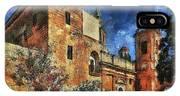 Courtyard, Mellieha, Malta IPhone X Case
