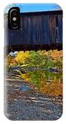 Covered Bridge Over The Cold River IPhone Case