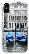 Covered Gondolas In Blue IPhone Case