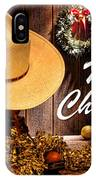 Cowboy Christmas Party - Merry Christmas IPhone Case