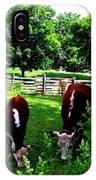 Cows Grazing IPhone Case