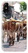 Cowtown Stockyards IPhone Case
