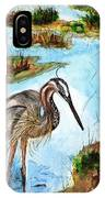 Crane In Florida Swamp IPhone Case