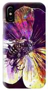 Cranesbill Flower Close Bee Insect  IPhone Case