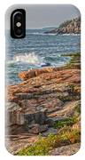 Crashing Waves At Otter Cliff IPhone Case