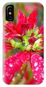 Crazy Dewy Red Flower IPhone Case