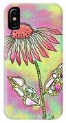 Crazy Flower With Funky Leaves IPhone Case