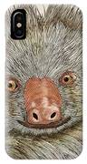 Crazy Two Toed Sloth IPhone Case