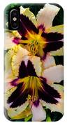 Cream And Purple Lilies IPhone Case