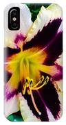 Cream And Purple Lily Macro IPhone Case