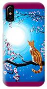 Creamsicle Kitten In Blue Moonlight IPhone Case