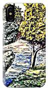 Creek In The Forest Framed IPhone Case