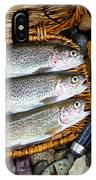 Creel With Native Trout  IPhone Case
