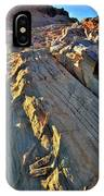 Crest Of Sandstone Wave At Sunset In Valley Of Fire IPhone Case