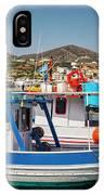 Crete Fishing Boats IPhone Case